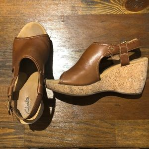 Clarks Shoes - Clark's leather wedge